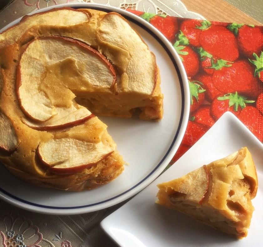 簡単♪ノンオイルキャラメルりんごケーキ♡
