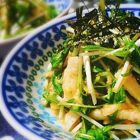 水菜と山芋で♪食感が美味しいサラダ☆