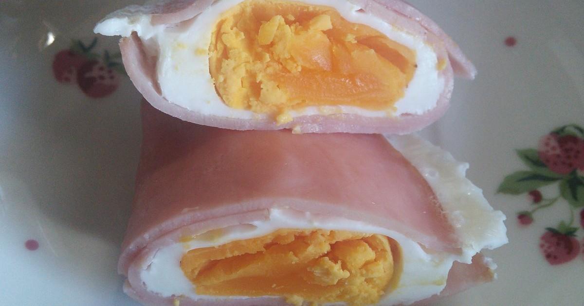 レンジ ハム 卵