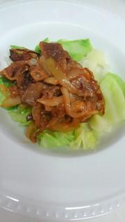 キャベツの肉味噌がけ♡の写真