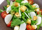 簡単!水菜とお麸クルトンのサラダ