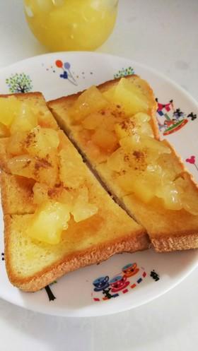 パイみたいなアップルシナモントースト