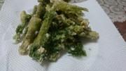 春5番目の山菜・シャクの天ぷらの写真