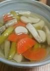 旨味ぎっしり!アスパラとベーコンのスープ