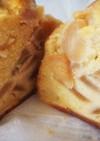 簡単しっとり甘さ控えめ林檎メープルケーキ