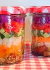 ボンヌママンの空き瓶で♡可愛い春色サラダ