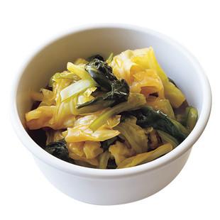 キャベツと小松菜の煮びたし