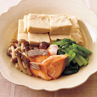 高野豆腐と鮭のさっと煮