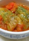 トマトたっぷり豆腐のロールキャベツ