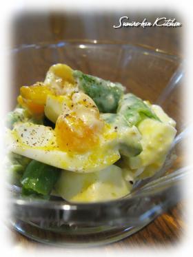 スナップエンドウのイタリアン卵サラダ