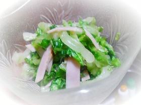白菜&ハムのサラダ♪おつまみ・付け合わせ
