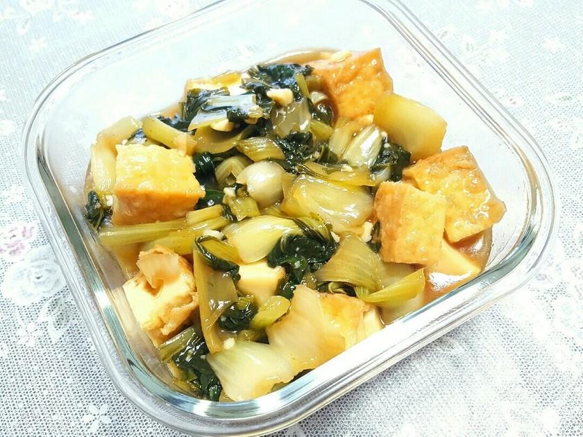 簡単♪チンゲン菜(小松菜)と揚げの煮浸し