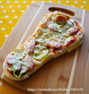 ナンで☆ナンちゃってピザ