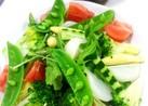 水菜とトマトのサラダ!絶品ドレッシングで