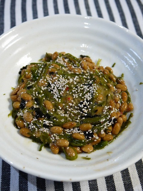 オメガ3!めかぶ納豆+チアシード