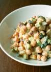 ヒヨコ豆とさつま芋の味噌マヨサラダ☆