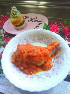 サンタの贈り物*鶏肉のシンプルトマト煮