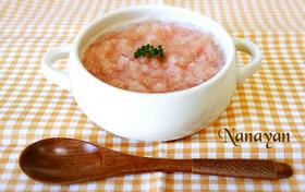 無塩料理☆大根とトマトの冷製スープ