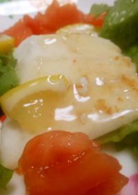 白身魚のレモンソース