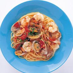 魚介のトマトパスタ