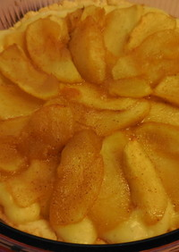 低カロリーなアップルカスタードタルト