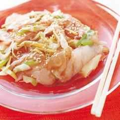 白身魚の中華風カルパッチョ