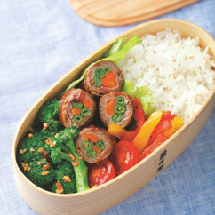 ビタミンチャージ弁当・野菜の肉巻