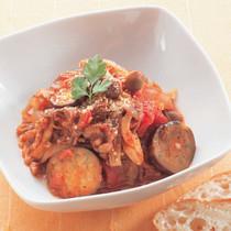 牛肉となすのトマト煮込み