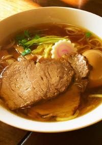 本格自家製煮干醤油清湯ラーメン