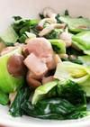 簡単 青菜と鳥もも肉のマヨ炒め