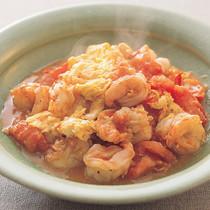 トマトとえびと卵の中華炒め