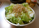最速のカリカリじゃこのレタスサラダ
