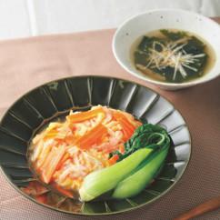 野菜が主役の天津飯定食