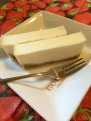 牛乳パックで簡単☆レアチーズケーキ☆の写真