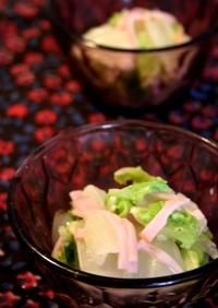 5分でできる○。・やさしい味の白菜サラダ