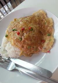 簡単!タイ風卵焼き(カイジアオムーサップ