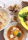 お肉ごろごろ筍ご飯と牡蠣ご飯☆柚子味噌汁