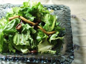 レタスと茸サラダバルサミコドレッシング