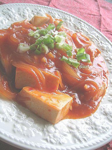 ピリ辛*豆腐のチリソース煮*