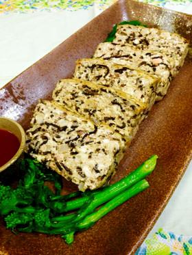 栄養満点♪豆腐・鮭・ひじきの和ローフ