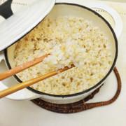 白米食感にする玄米の炊飯法・ふかふか玄米の写真