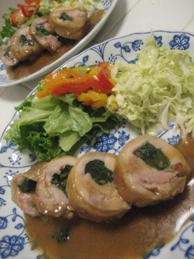 チキンロール(ほうれん草とチーズ)