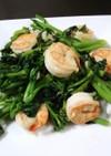 春だ!菜の花と海老の炒め物