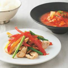 カラフル野菜炒め定食