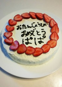 ロールケーキでバースデーケーキ