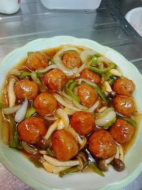 肉団子の酢豚風~業務用肉団子を使って~