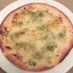 春の香り♪ふきのとう味噌のピザ