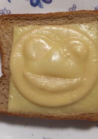 チーズを乗せて焼くと浮き出るトースト