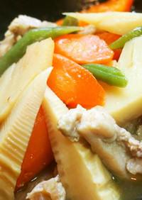 ♡タケノコと鶏肉の煮物(*^-^*)♡