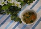 離乳食中期 にんじん大根ほうれん草スープ